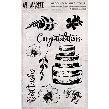 49 and Market WEDDING WISHES Clear Stamps SR-87674*