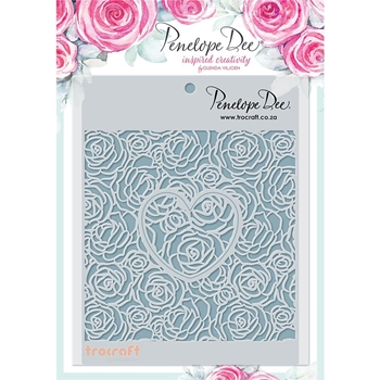 Penelope Dee ROSES & HEARTS Stencil pd1398