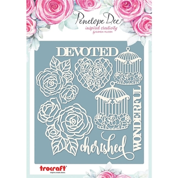Penelope Dee BIRDCAGES & ROSES Chipboard pd1400*