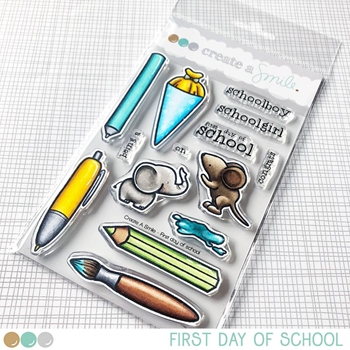 Create A Smile FIRST DAY OF SCHOOL Clear Stamps clcs79