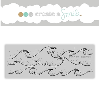 Create A Smile OCEAN WAVES Cling Stamp cgcs14