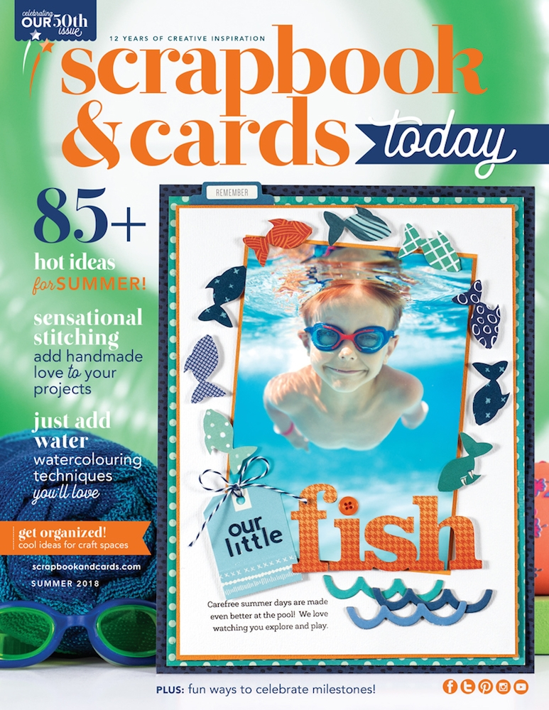 Scrapbook & Cards Today Magazine SUMMER 2018 Issue sctse18 zoom image