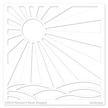 Newton's Nook Designs SUNSCAPE Stencil NN1806T02