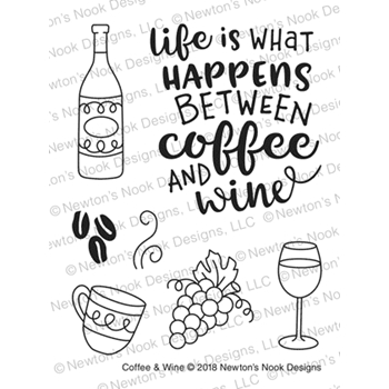 Newton's Nook Designs COFFEE AND WINE Clear Stamps NN1806S05