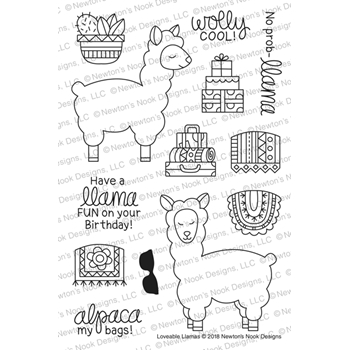 Newton's Nook Designs LOVABLE LLAMAS Clear Stamps NN1806S02