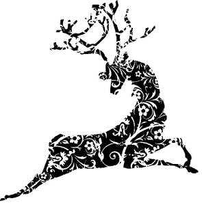 Tim Holtz Rubber Stamp REINDEER Christmas Stamper Anonymous U2-1375 Preview Image