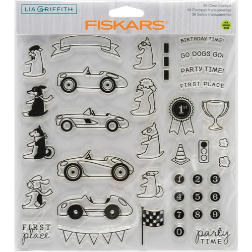 Fiskars Lia Griffith PARTY TIME Clear Stamps 90134 Preview Image