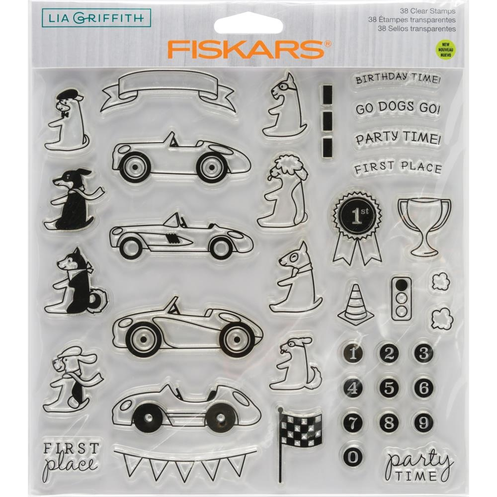 Fiskars Lia Griffith PARTY TIME Clear Stamps 90134 zoom image