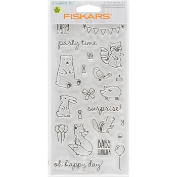 Fiskars Lia Griffith WOODLAND PARTY Clear Stamps 90128