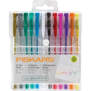 Fiskars Lia Griffith ASSORTED GEL PENS 12 Pack 90170