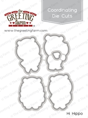 The Greeting Farm HI HIPPO Coordinating Die Cuts TGF409