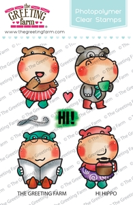 The Greeting Farm HI HIPPO Clear Stamps TGF408