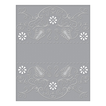 CEF-009 Spellbinders FLORA BANNER Cut and Emboss Folder