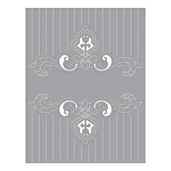 CEF-008 Spellbinders REGAL SWIRL Cut and Emboss Folder