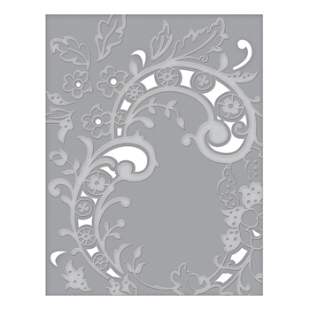 CEF-004 Spellbinders BAROQUE FILIGREE Cut and Emboss Folder