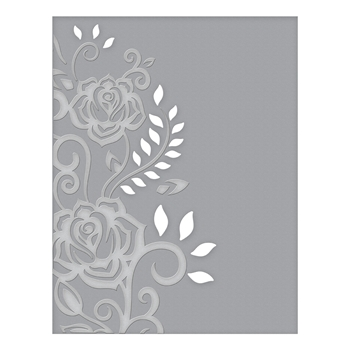CEF-003 Spellbinders ROSE FLOURISH Cut and Emboss Folder