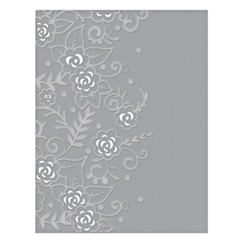 CEF-002 Spellbinders FLOWER GARDEN Cut and Emboss Folder