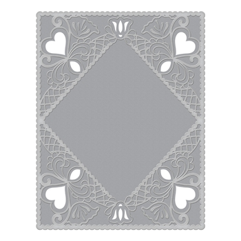 CEF-001 Spellbinders DIAMOND LACE FRAME Cut and Emboss Folder
