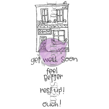 Purple Onion Designs HOMETOWN DOCTOR'S OFFICE Cling Stamp Set pod8004