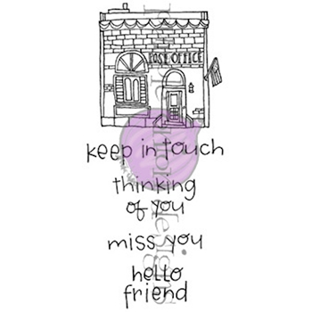 Purple Onion Designs HOMETOWN POST OFFICE Cling Stamp Set pod8003