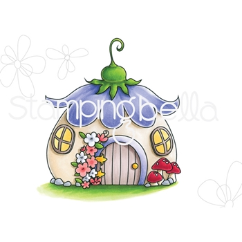 Stamping Bella Cling Stamp LITTLE BITS FAIRY HOUSE eb707