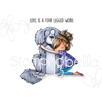 Stamping Bella Cling Stamp TINY TOWNIE DAWN LOVES HER DOGGIE eb714