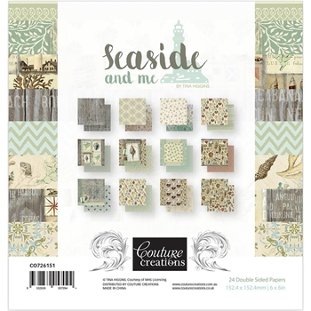Couture Creations SEASIDE 6 x 6 Paper Pad co726151