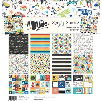 Simple Stories LIL DUDE 12 x 12 Collection Kit 10224