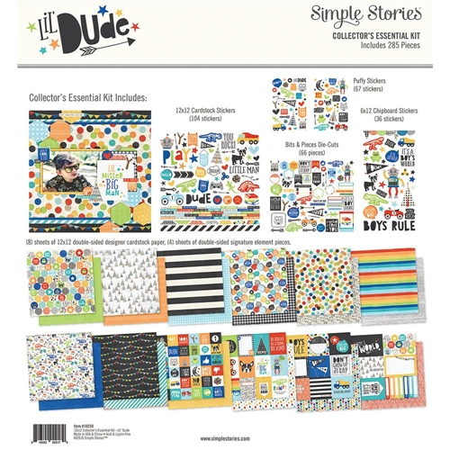 Simple Stories LIL DUDE 12 x 12 Collector's Essential Kit 10258 Preview Image