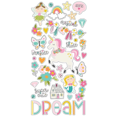 Simple Stories DREAM BIG 6 x 12 Chipboard Stickers 10220 Preview Image