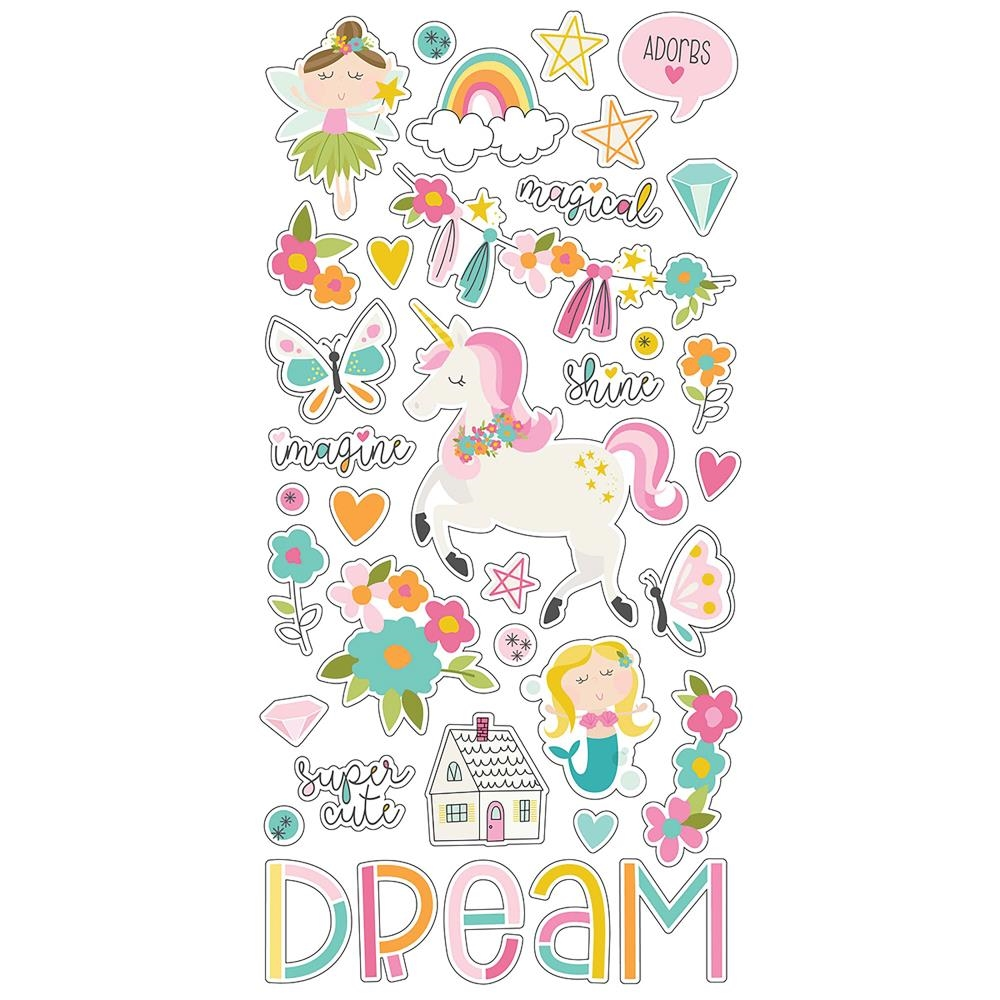 Simple Stories DREAM BIG 6 x 12 Chipboard Stickers 10220 zoom image