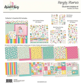 Simple Stories DREAM BIG 12 x 12 Collector's Essential Kit 10257