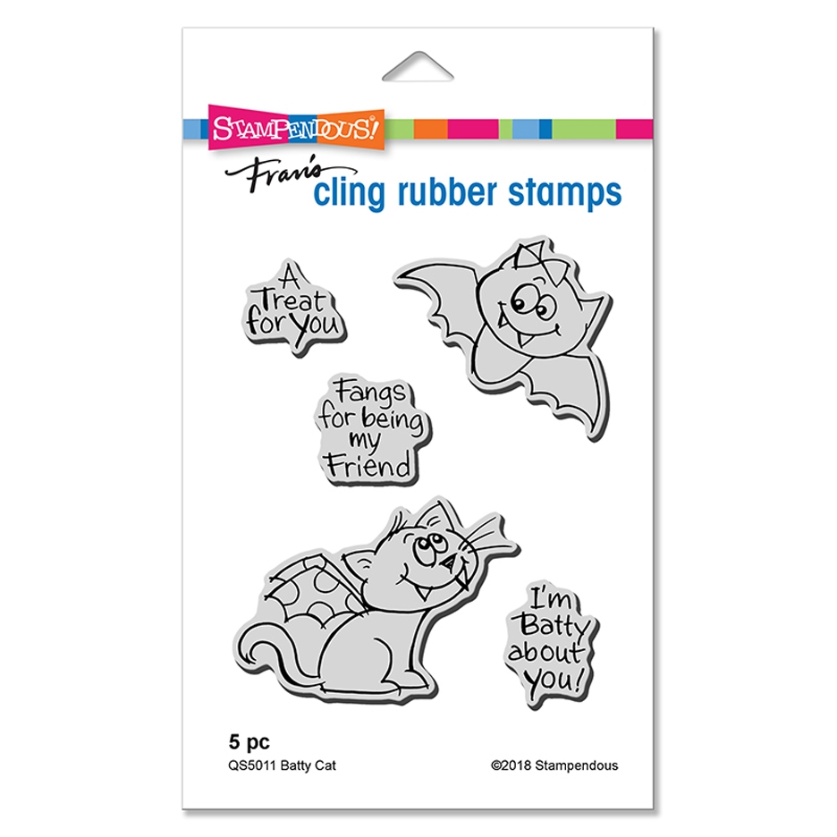 Stampendous Batty Cat Cling Stamp Set