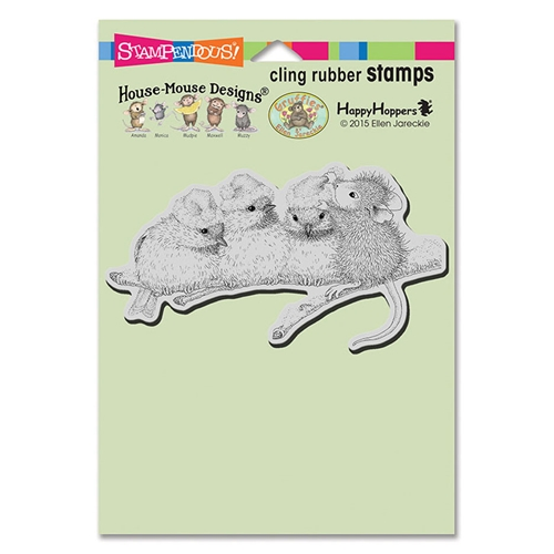 Stampendous House Mouse Santa Hats Cling Stamp
