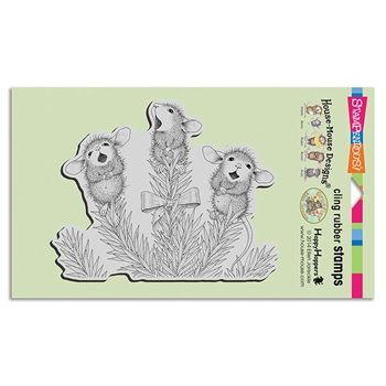 Stampendous Cling Stamp PINE CAROLERS hmcr121 House Mouse