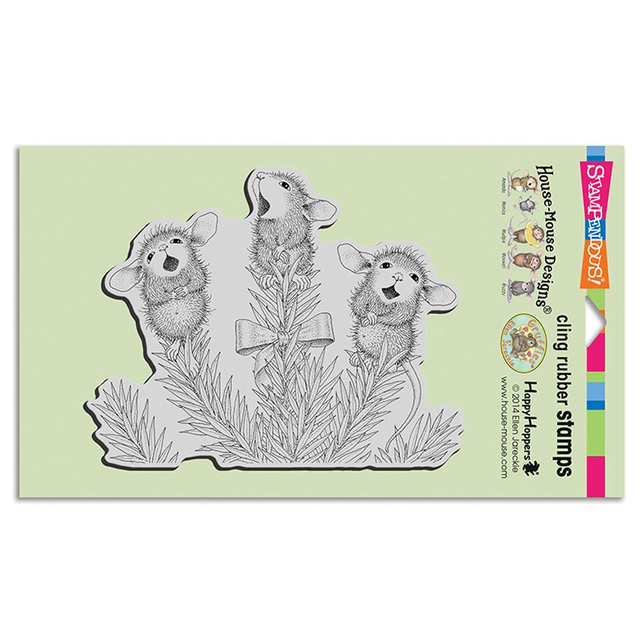 Stampendous Cling Stamp PINE CAROLERS hmcr121 House Mouse zoom image