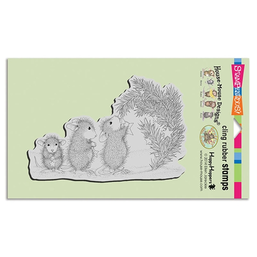 Stampendous House Mouse Star Decorations Cling Stamp