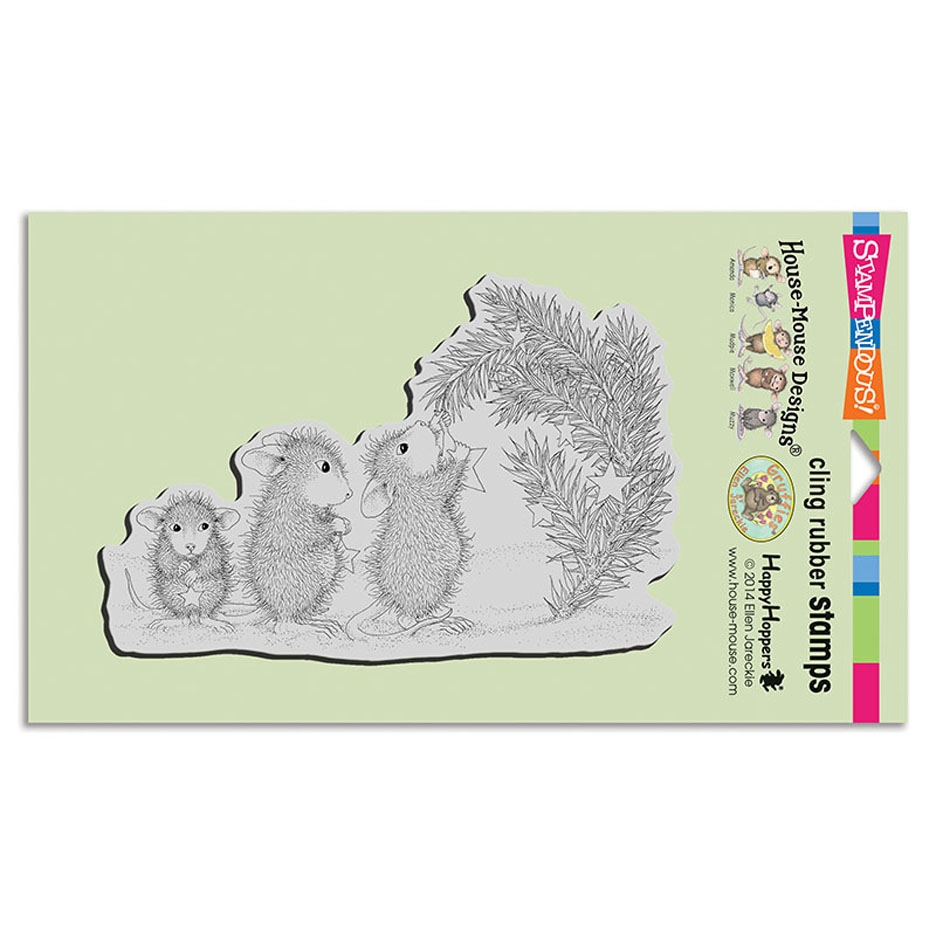 Stampendous Cling Stamp STAR DECORATIONS hmcr122 House Mouse zoom image