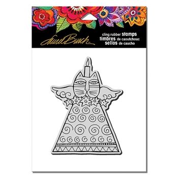 Stampendous Cling Stamp FELINE CANDLE Laurel Burch lbcp014