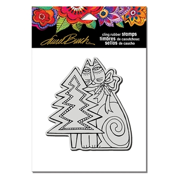 Stampendous Cling Stamp FELINE CHRISTMAS Laurel Burch lbcw013