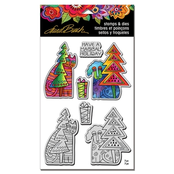 Stampendous HOLIDAY FRIENDS Laurel Burch Stamp and Die Set lbcld02