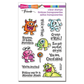 Stampendous Clear Stamps LITTLE MONSTERS ssc1284