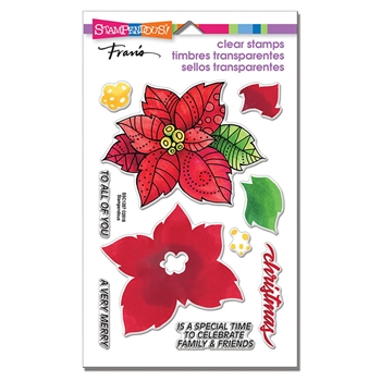 Stampendous Clear Stamps POINSETTIA PARTS ssc1287