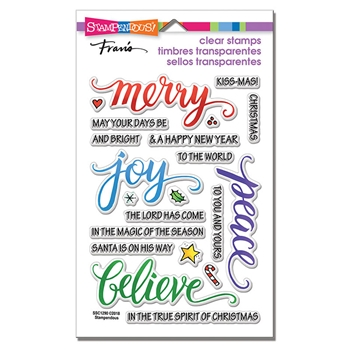 Stampendous Clear Stamps MERRY WORDS ssc1290
