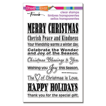 Stampendous Clear Stamps HOLIDAY WISHES ssc1291