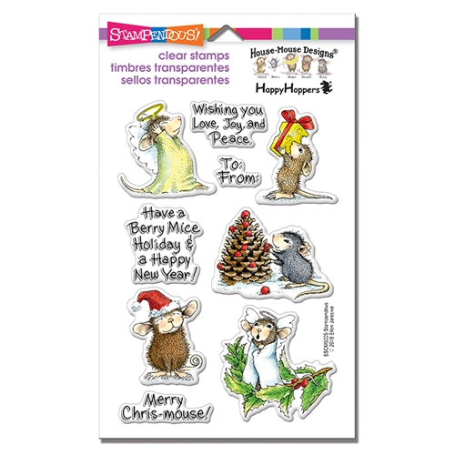 Stampendous Clear Stamps MERRY MICE House Mouse sscm5005 Preview Image