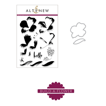 Altenew BUILD A FLOWER PERUVIAN LILY Clear Stamp and Die Set ALT2460