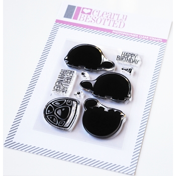 Clearly Besotted TINY TORTOISE Clear Stamps