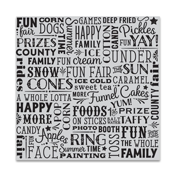 Hero Arts Cling Stamp COUNTY FAIR BOLD PRINTS CG747
