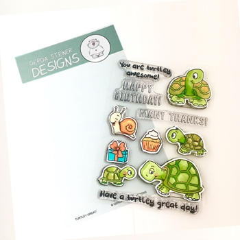 Gerda Steiner Designs TURTLEY GREAT Clear Stamp Set gsd643